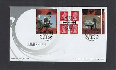 GB 2020 James Bond retail stamp booklet Royal Mail FDC Iver Heath special pmk