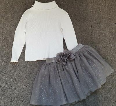 Gorgeous Girls, 2 Piece Outfit, Ribbed Jumper & Chiffon, Sequin Skirt, 2-3 Years