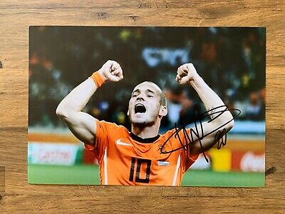 WESLEY SNEIJDER - Hand Signed 12x8 Photo - Ajax Real Madrid Holland - Football