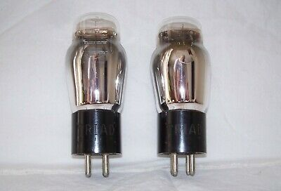 Pr Triad Type 26 Antique Radio Triode Tubes,tested GOOD!,ST,Matching DC lot