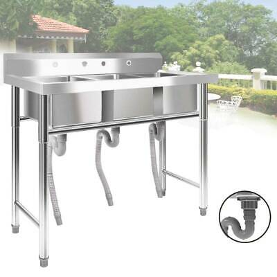 """39"""" 1/3 Compartment Stainless Steel Commercial Bar Sink Kitchen Sink USA"""