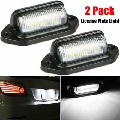 2pcs License Number Plate Light Tail Rear Lamp For Truck Trailer Lorry 12V 6-LED