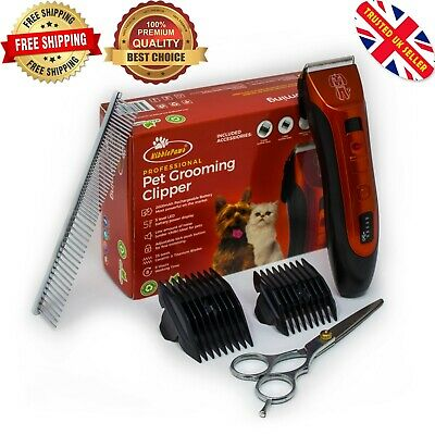 Cordless Dog Clipper Pet Grooming Shaver Kit Electric Trimmer Set Animal Hair