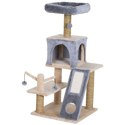 Cat Tree Tower with Perch, Ladder and Teasing Toy Ball