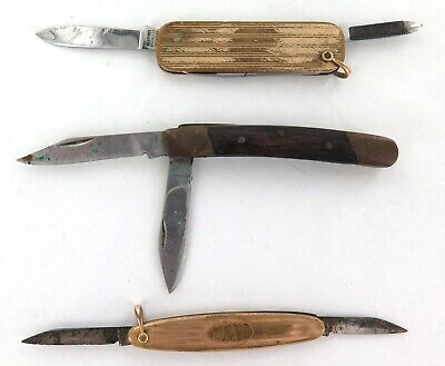 3 VINTAGE SMALL PEN KNIVES. MAYWARD and GIESEN FORSTHOFF.