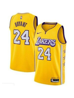 Kobe Bryant #8 Los Angeles Lakers Classic Gold Swingman Jersey New