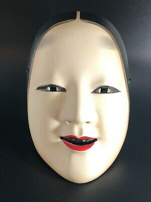 Japanese Traditional Theater Noh mask 小面 ko-omote Pottery From Japan #3990