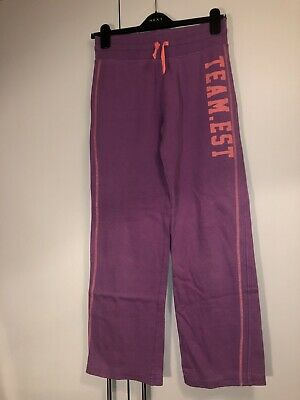 Pink & Purple Childrens Girls Jogging Bottoms Age 14 Years