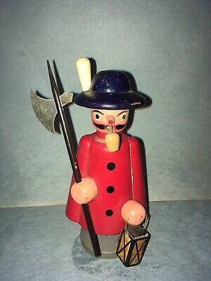 "7""  Vintage Wooden Incense Smoker Hunter Doll Great Condition"