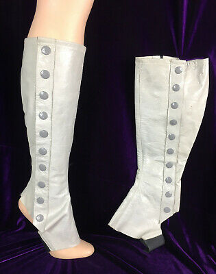 Strumpettes Tall Spats Women Steampunk Edwardian Victorian Style Leather