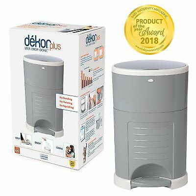 Plus Hands-Free Diaper Pail Easiest to Use Great for Cloth Diapers Refill System