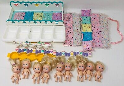 VTG Fivesies TYCO QUINTS DOLL Baby Lot Bedding Accessories 1990s