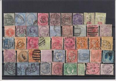 18??-19??-British Colonies & Territories-Lot 45 Stamps-Old Collection-No Gum.-1