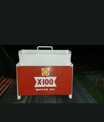 Vintage Shell X100 Oil Rack and sign Genuine .