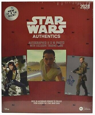 2020 Topps Star Wars Authentics 11x14 Autographed Photo and Trading Card Box