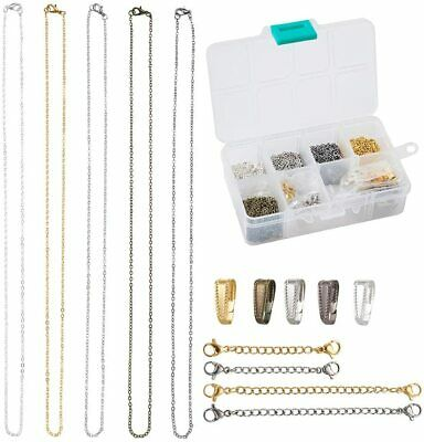 1 Box Brass Snap on Bails Cable Chains Extender Crafts Necklace Jewelry Findings