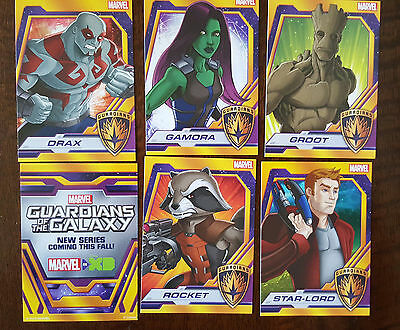 2015 Sdcc Marvel Guardians Of The Galaxy Promo Card 3 Set Lot Star Lord Groot