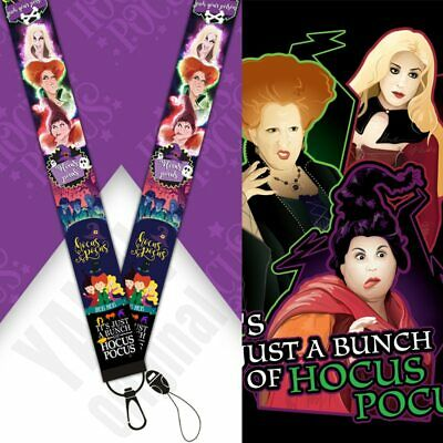 Hocus Pocus Themed Lanyard Mobile Pin Id Tag Holder Sanderson Witch Sisters