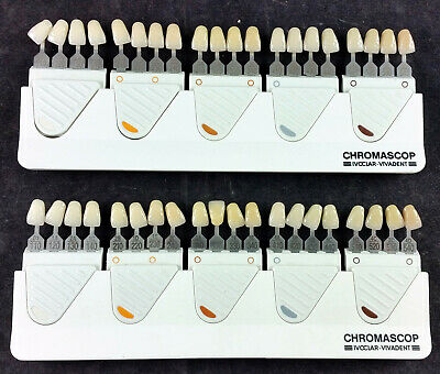 Lot of (2) IVOCLAR-VIVADENT Chromascop Shade Guides 529479