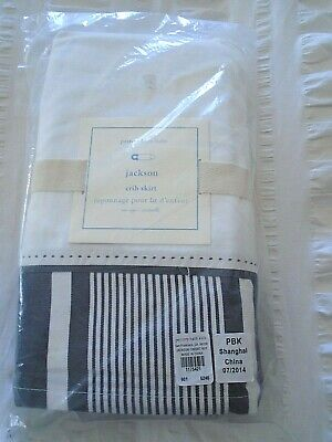 NEW IN PACKAGE: POTTERY BARN BABY~JACKSON Cotton Crib Skirt/Crisp & Classic