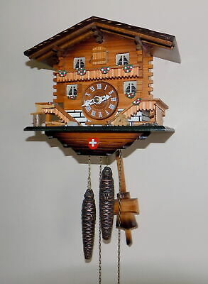 Excellent German Black Forest Hubert Herr 'Chalet' Cuckoo Clock - Fully Working