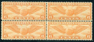 US  C19  Beautiful  Mint  NEVER  Hinged  AIR MAIL Block  UPTOWN
