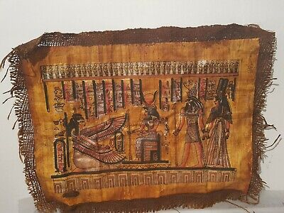 Rare Antique Ancient Egyptian Papyrus 3 God Isis Hathor Horus 1279–1213BC