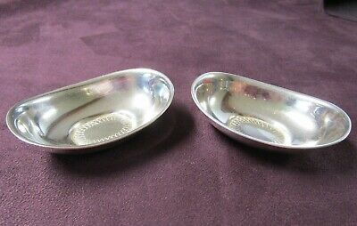 Pair of Sterling Nut Dishes Karl Gustav Hansen 1957 Denmark Rare Engraved Accent