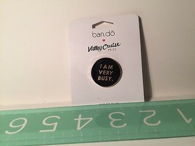 "New Fun 1"" Novelty Pin I Am Very Busy Ban.do NIP Bando Lapelle"