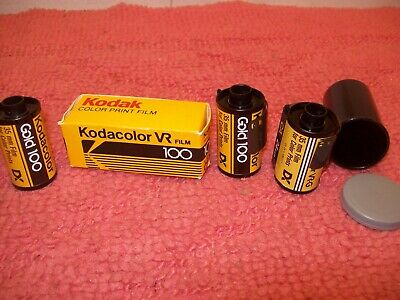 Lot of 4 Vintage Rolls Kodak Kodacolor VR & Gold 100 35mm film 24 exposures