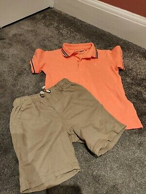 Next Boys 4-5 Years Chino Short And Polo Shirt Bundle