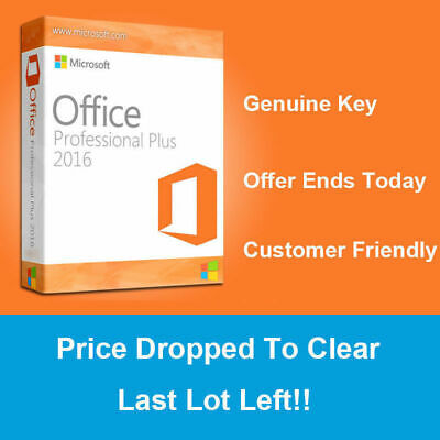 Microsoft Office 2016 Professional Plus 32/64 Bit Lifetime License Key