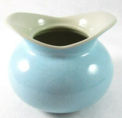USA Pottery Speckled Blue Sugar Bowl, Pot or Vase, Light Gray Interior, No Lid
