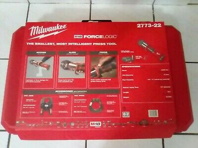 "Milwaukee 2773-22 M18 Force Logic Press Tool Kit 1/2"" - 2"" Jaws New"
