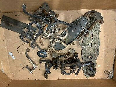 Lots Of Architectural Salvage Antique Hooks Escutcheon Plates