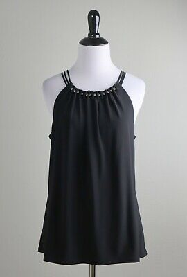 WHITE HOUSE BLACK MARKET NWT $68 Modern Stretch Halter Tank Top Size Medium