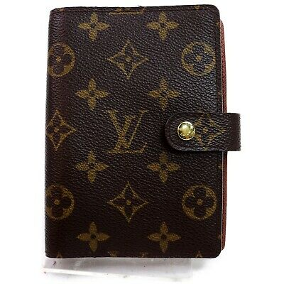 Authentic Louis Vuitton Diary Cover R20005 Agenda PM Browns Monogram 1200702