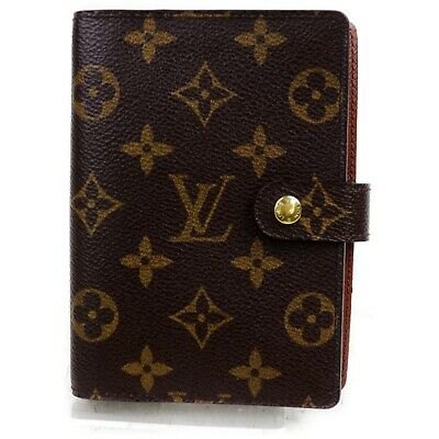 Authentic Louis Vuitton Diary Cover R20005 Agenda PM Browns Monogram 1200770