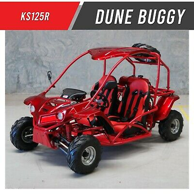 KS125RR - 125cc All terrain Dune Buggy Semi-Auto w/ Reverse gear 2 Seater Kids