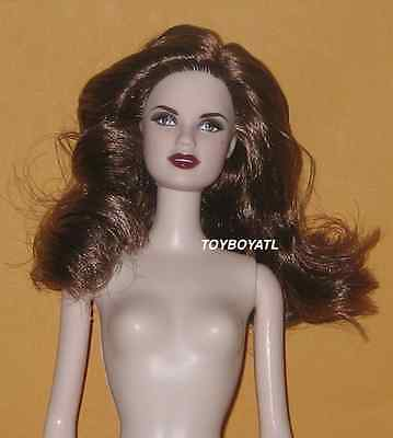 Barbie Auburn/Brown Hair Pale Belly Button Body Mackie Face Doll NUDE NEW OOAK