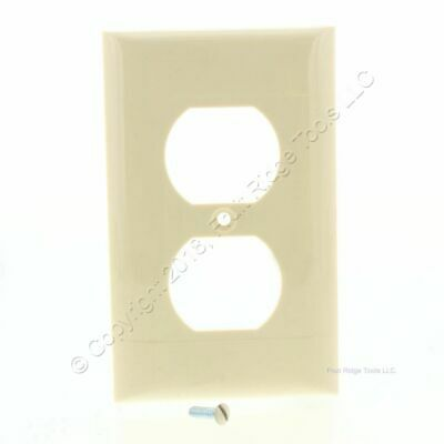 Pass & Seymour Ivory Thermoplastic Smooth Single Gang Receptacle Wallplate RP1-8