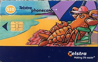 Telstra Phone Card Used $10 Lobster On The Beach Making Life Easier