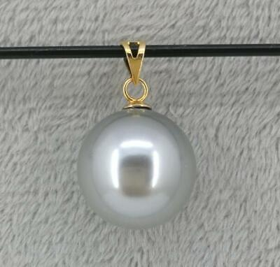 HOT HUGE AAA 15x17MM SOUTH SEA WHITE BAROQUE PEARL PENDANT 14K GOLD