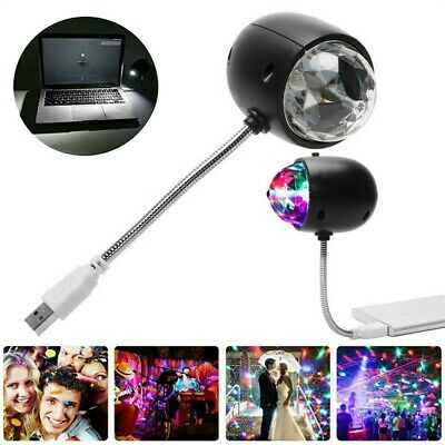 Mini USB RGB Disco Party DJ LED Stage Effect Light Lamp Laser Crystal Magic Ball