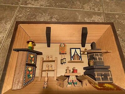 German 3D Wooden Shadow Box Picture Diorama