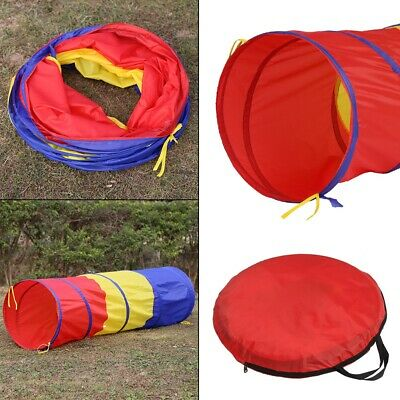 Colourful Kids Children Pop Up Crawl Tunnel Play Tent Indoor/Outdoor Play Tunnel