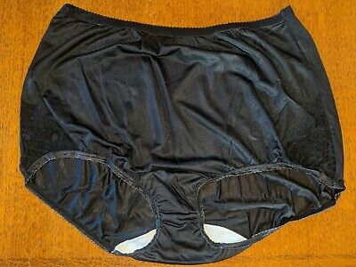 Lot of 3 vintage Shadowline lace-side panties Size 7