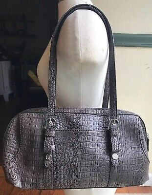 Relic Brown Faux Leather Snakeskin Embossed Shoulder Bag Purse Nice For Winter