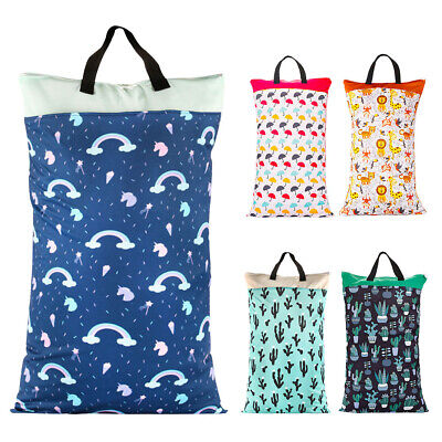 Baby Washable Waterproof Travel Hanging Cloth Diaper Bag Wet Dry Large Capacity