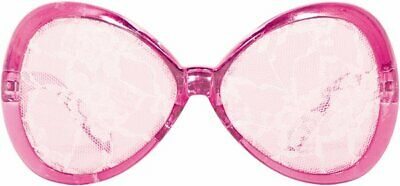 Pink Party Glasses Lace white 50s 60s Shabby Chic Retro Vintage 50s Rockabilly F
